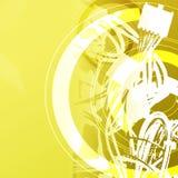 Fond de technologie - fils Photo libre de droits