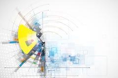 Fond de technologie, idée de solution d'affaires globales Photos libres de droits