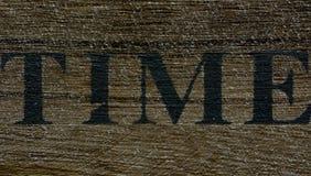 Fond de temps sur le bois photographie stock