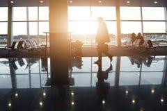 Fond de terminal d'aéroport Images libres de droits