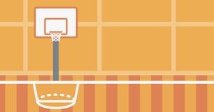 Fond de terrain de basket Photographie stock