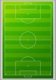 Fond de terrain de football de vue supérieure Photos stock