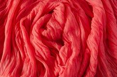 Fond de textile Écharpe de corail vivante photographie stock libre de droits