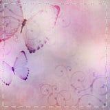Fond de textile avec le papillon Photos libres de droits