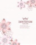 fond de textile avec les fleurs de papier Photos stock