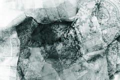 Fond de textile de Grundge - bleu Photo libre de droits