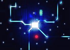 Fond de texture de carte, illustration de vecteur de concept de technologie Image libre de droits