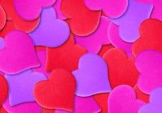 Fond de texture de coeur de Valentine Coeurs pour le jour du ` s de Valentine photographie stock libre de droits