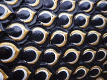 Fond de texture d'échelles de serpent ou de dragon Photographie stock libre de droits
