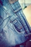 Fond de texture de blues-jean Photo stock