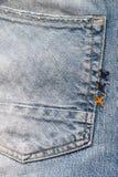 Fond de texture de jeans de denim Images libres de droits
