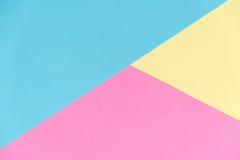 Fond de texture de papier de couleur en pastel Fond de papier géométrique abstrait couleurs de tendance Coloré du papier mou Images stock