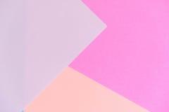 Fond de texture de papier de couleur en pastel Fond de papier géométrique abstrait couleurs de tendance Coloré du papier mou Image libre de droits