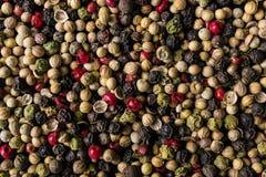 Fond de texture de préparation de grain de poivre Photos libres de droits
