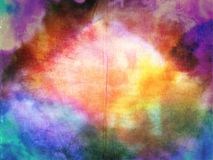 Fond de texture de tissu d'arc-en-ciel de colorant de lien photos stock