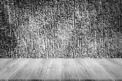 Fond de texture de tissu, processus dans la couleur blanche avec le ter en bois Photos stock