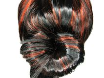 Fond de texture de touffe de cheveu de point culminant Image libre de droits