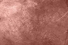 Fond de texture en métal d'aluminium de Rose Gold photos stock