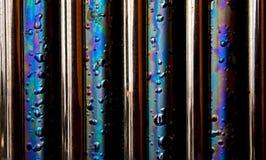 Fond de texture en métal d'arc-en-ciel Image libre de droits
