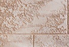 Fond de texture de mur de briques, plan rapproché, foyer sélectif Stuc coloré par plaine Photo stock