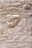 Fond de texture de mur de briques, plan rapproché, foyer sélectif Stuc coloré par plaine Images libres de droits
