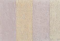 Fond de texture de mur de briques, plan rapproché, foyer sélectif Stuc coloré par plaine Photos stock