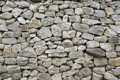 Fond de texture de mur de pierres sèches Image stock