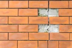 Fond de texture rouge de modèle de mur de briques Photographie stock libre de droits