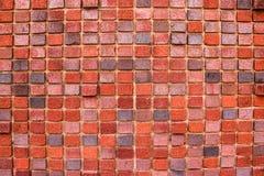 Fond de texture rouge de modèle de mur de briques Grand pour des inscriptions de graffiti photo libre de droits