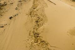 Fond de texture de sable Texture de modèle de sable Photographie stock libre de droits