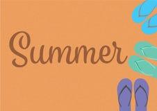 Fond de thème d'été Photo libre de droits