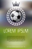 Fond de thème du football Photos libres de droits