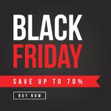 Fond de thème de vente de Black Friday Photographie stock