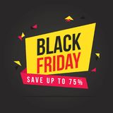 Fond de thème de vente de Black Friday Photo libre de droits