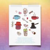 Fond de thé, illustration de vecteur Images stock