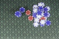 Fond de tisonnier de casino avec la pièce pour le texte Images stock