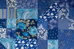 Fond de tissu d'abrégé sur patchwork photographie stock