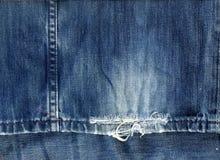 Fond de tissu de jeans Photos libres de droits