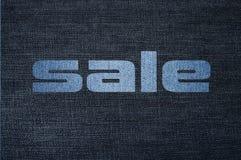 Fond de tissu de jeans Photographie stock