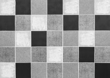 Fond de Tles Squares Black Grey White Photographie stock libre de droits