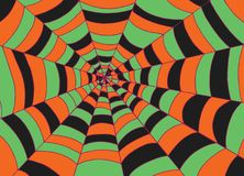 Fond de toile d'araignée, art de vecteur de croquis de griffonnage Texture de bande dessinée Images libres de droits