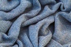 Fond de toile grise tricotée de la laine du ` s de chèvre faite avec le knitti Photo stock
