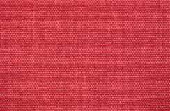 Fond de toile rouge de texture de tissu Photographie stock libre de droits