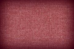 Fond de toile rouge et noir de texture de tissu Photographie stock libre de droits