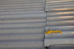 Fond de toit d'ardoise d'amiante Photographie stock libre de droits