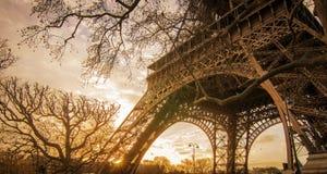 Fond de Tour Eiffel grand Images libres de droits