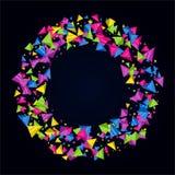 Fond de triangle de couleur Images libres de droits