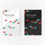 Fond de triangles de brochure Photo stock