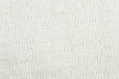 Fond de tricotage blanc de texture de laine Image libre de droits