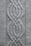 Fond de tricotage gris image stock
